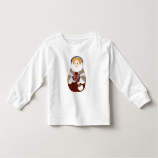 Queen Elizabeth I Matryoshka Toddler Long Sleeve Toddler T-shirt