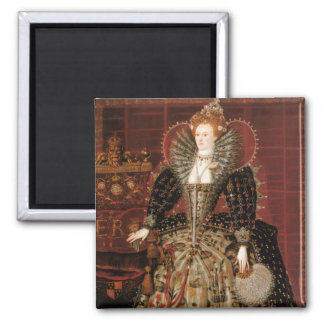 Queen Elizabeth I of England 2 Inch Square Magnet