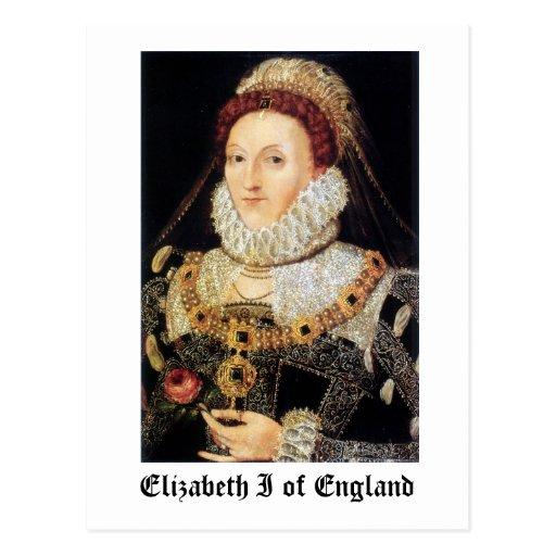 Queen Elizabeth I of England Post Cards