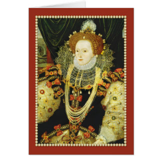Queen Elizabeth I of England Wearing Pearls Card