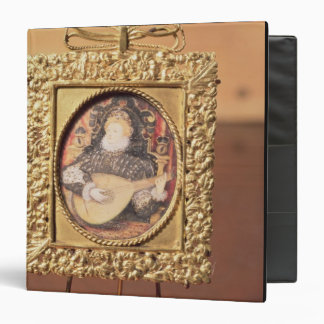 Queen Elizabeth I playing the lute (miniature incl Binder