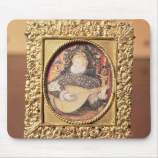 Queen Elizabeth I playing the lute (miniature incl Mouse Pad
