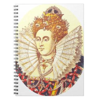 Queen Elizabeth I, QE1, The First Spiral Notebook