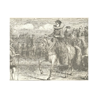 Queen Elizabeth I Reviewing her troops at Tilbury Canvas Print