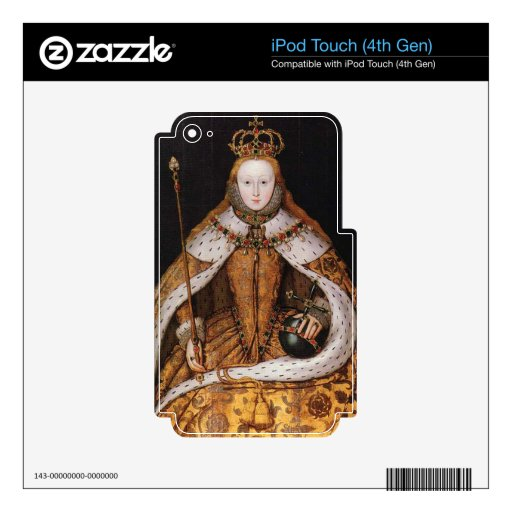 Queen Elizabeth I Decals For iPod Touch 4G