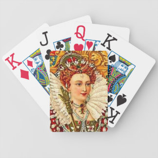 Queen Elizabeth I Vintage Art Nouveau Bicycle Playing Cards