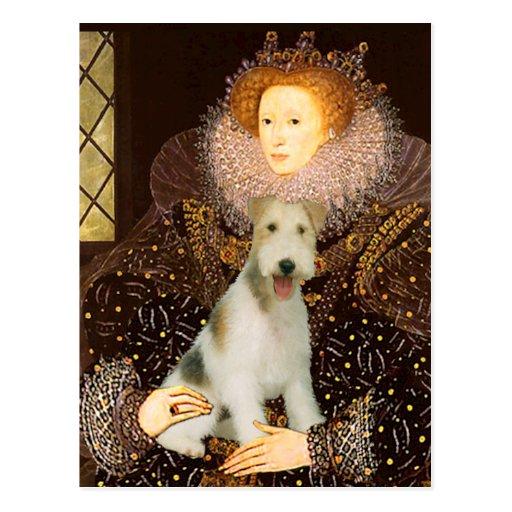 Queen Elizabeth I - Wire Fox Terrier #1 Postcard