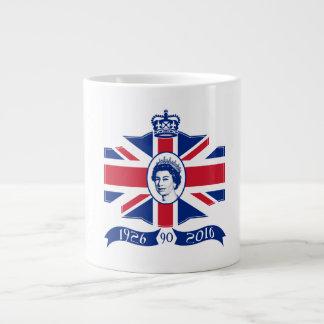 Queen Elizabeth II 90th Birthday 2016 Large Coffee Mug