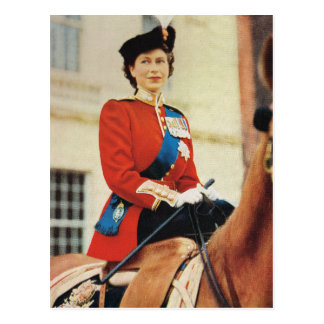 Queen Elizabeth II at the Trooping of the colour Postcard
