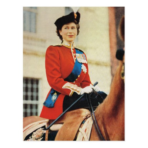 Queen Elizabeth II at the Trooping of the colour Post Card