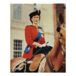 Queen Elizabeth II at the Trooping of the Colour Poster