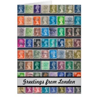 Queen Elizabeth II Definitive Stamps Greeting Card