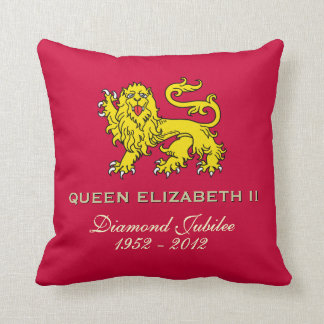 Queen Elizabeth II Diamond Jubilee Pillow (Red)