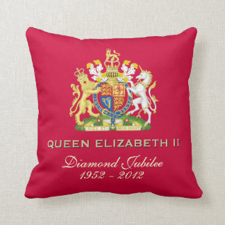 Queen Elizabeth II Diamond Jubilee Pillow (Red)