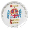 Queen Elizabeth II Diamond Jubilee plate