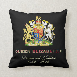 Queen Elizabeth II Diamond Jubilee Throw Pillow