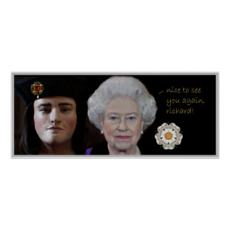 Queen Elizabeth II greets Richard III Poster