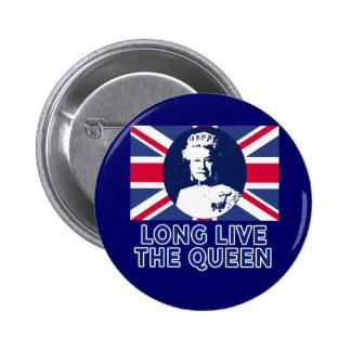 Queen Elizabeth II Long Live the Queen 2 Inch Round Button