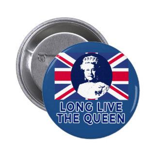 Queen Elizabeth II Long Live the Queen Pinback Button
