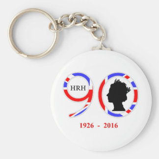 Queen Elizabeth II Of England 90th Birthday Keychain