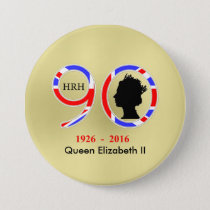 Queen Elizabeth II Of England 90th Birthday Pinback Button