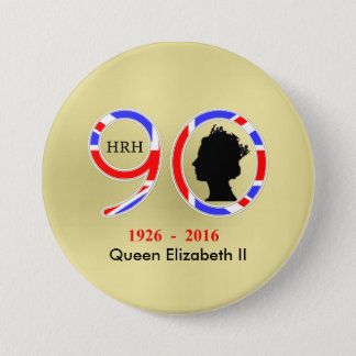 Queen Elizabeth II Of England 90th Birthday Pinback Button