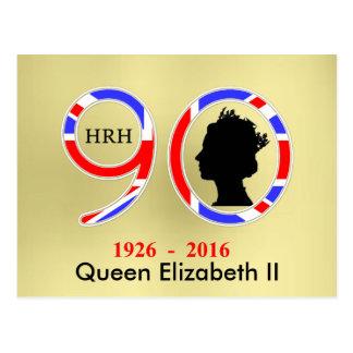 Queen Elizabeth II Of England 90th Birthday Postcard