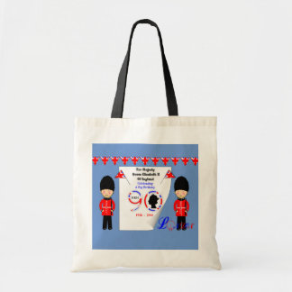 Queen Elizabeth II Of England 90th Birthday Tote Bag