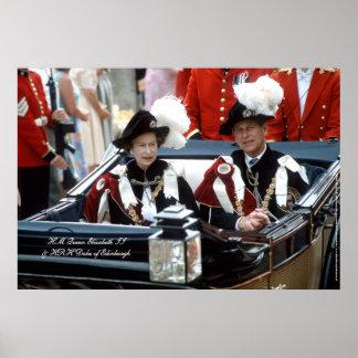 Queen Elizabeth II & Prince Philip 1986 Poster