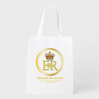 Queen Elizabeth II Reign Reusable Grocery Bag