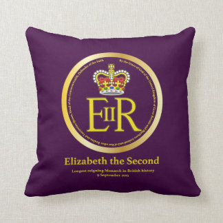 Queen Elizabeth II Reign Throw Pillow