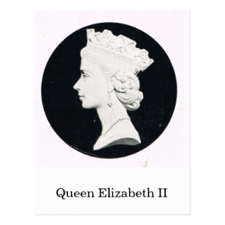 Queen Elizabeth II, relief portrait Postcard