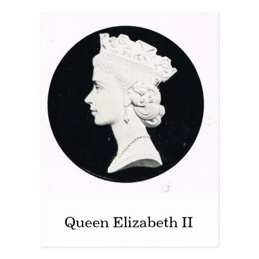 Queen Elizabeth II, relief portrait Post Cards