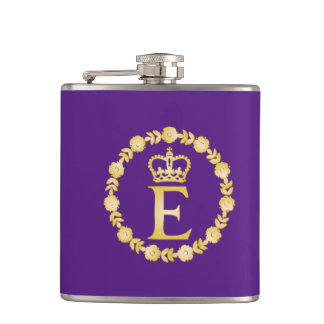 Queen Elizabeth II Royal Cypher Flask