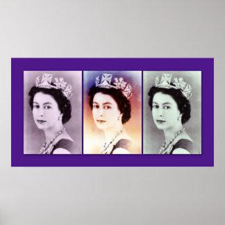 Queen Elizabeth II Trio Poster