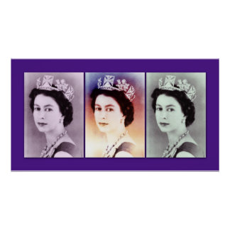 Queen Elizabeth II Trio Print