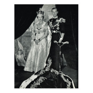 Queen Elizabeth II, with Prince Philip Postcard