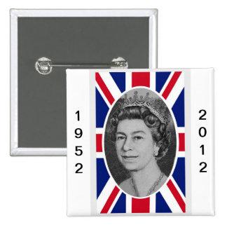 Queen Elizabeth Jubilee Portrait Button