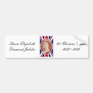Queen Elizabeth Jubilee Portrait Car Bumper Sticker
