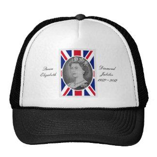 Queen Elizabeth Jubilee Portrait Trucker Hats
