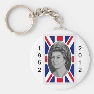 Queen Elizabeth Jubilee Portrait Keychain
