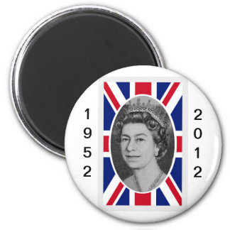 Queen Elizabeth Jubilee Portrait 2 Inch Round Magnet