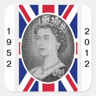 Queen Elizabeth Jubilee Portrait Square Sticker