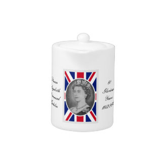 Queen Elizabeth Jubilee Portrait Teapot