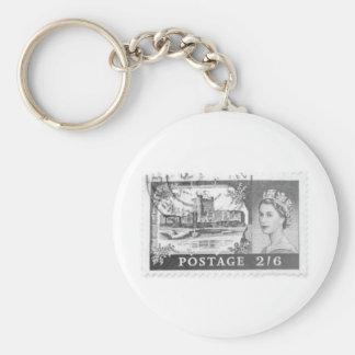Queen Elizabeth Basic Round Button Keychain