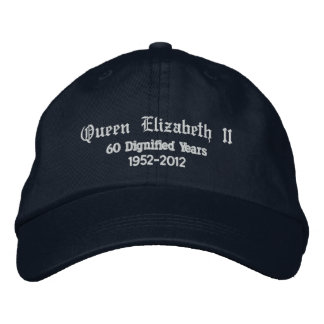 Queen Elizabeth ll-60 Dignified Years/1952-2012 Embroidered Baseball Cap
