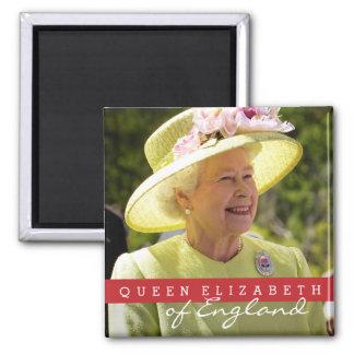 Queen Elizabeth of England 2 Inch Square Magnet