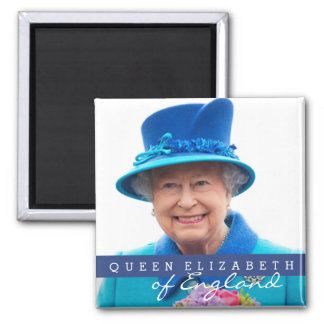 Queen Elizabeth of England 2 Inch Square Magnet