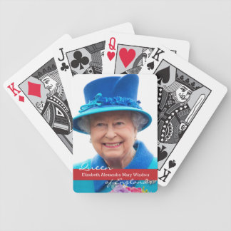 Queen Elizabeth of England Bicycle Playing Cards
