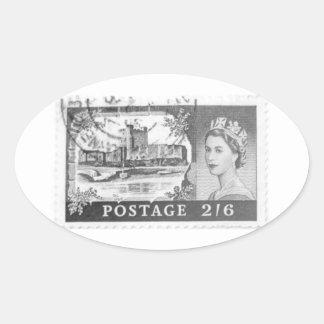 Queen Elizabeth Oval Sticker